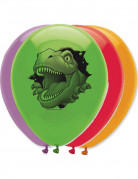 6 Ballons anniversaire Dinosaures 30 cm