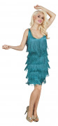 Déguisement charleston turquoise femme