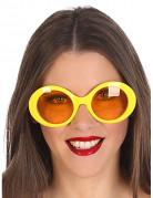 Lunettes hippies jaunes