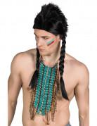 Collier indien long bleu adulte