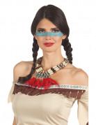 Collier indien avec plumettes rouges femme