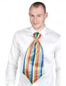Cravate géante clown multicolore adulte