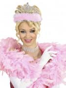 Diadème princesse avec fourrure rose