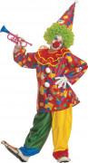 Déguisement clown farceur coloré enfant