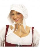 Bonnet servante blanc femme