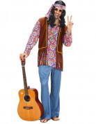 Déguisement hippie psychédélique évasé homme