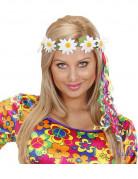 Bandeau hippie fleurs avec rubans adulte