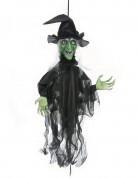 Décoration sorcière animée lumineuse et parlante Halloween