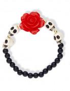 Bracelet squelettes et rose rouge