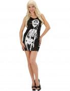 Déguisement robe squelette à paillettes femme Halloween