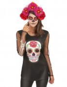 Vous aimerez aussi : T-shirt squelette coloré femme Dia de los muertos