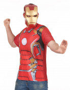 T-Shirt et masque adulte Iron Man movie 2™ adulte
