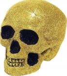 Crâne doré 19 cm