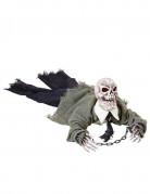 Décoration squelette animée lumineuse et sonore Halloween