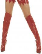 Sur bottes vinyles rouges adulte