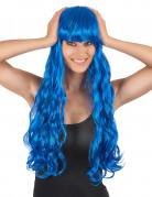 Vous aimerez aussi : Perruque longue ondulée bleue avec frange femme