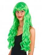 Vous aimerez aussi : Perruque longue ondulée Vert fluo avec frange femme