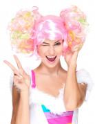 Vous aimerez aussi : Perruque rose clair à couettes bouclées femme