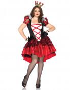 Déguisement reine de coeur avec corset femme
