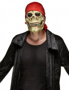 Masque latex tête de mort pirate adulte Halloween