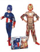 Coffret déguisements enfant Captain America™ et Iron Man™ - Avengers™