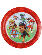 8 Assiettes en carton Pat'Patrouille™ rouge 23 cm