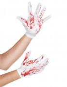 Vous aimerez aussi : Gants courts blancs tachés de sang adulte Halloween