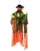 Décoration à suspendre épouvantail citrouille Halloween 1 m