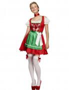 Déguisement serveuse bavaroise rouge femme
