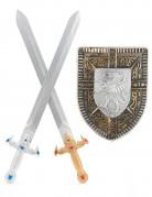 Vous aimerez aussi : Kit bouclier et 2 épées en plastique pour Enfant