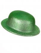 Chapeau melon vert pailleté adulte Saint Patrick