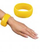 Bracelet large jaune femme