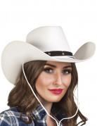 Chapeau cowboy blanc et noir adulte
