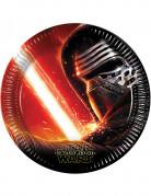 8 Assiettes en carton Star Wars VII™ 22 cm