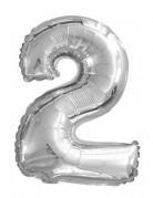 Vous aimerez aussi : Ballon aluminium chiffre 2 argenté 35 cm