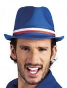 Chapeau gangster bleu supporter France adulte