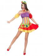 D�guisement clown bariol� femme