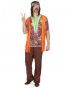 Vous aimerez aussi : Déguisement hippie rose et marron homme