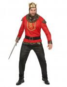 Déguisement roi chevalier rouge homme
