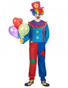 Déguisement clown coloré homme