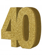 Décoration de table 40 ans dorée 20 x 20 cm