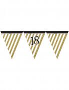 Vous aimerez aussi : Guirlande à fanions noir et or 18 ans 3,7m