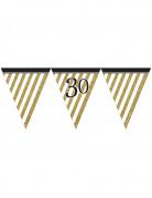 Vous aimerez aussi : Guirlande à fanions noir et or 30 ans 3,7m
