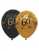 Vous aimerez aussi : 6 Ballons latex Noir et or 60 ans
