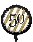 Vous aimerez aussi : Ballon aluminium Noir et or 50 ans 46cm