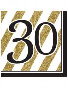 Vous aimerez aussi : 16 Serviettes 30 ans Noir et Or 33 x 33 cm