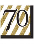 Vous aimerez aussi : 16 Serviettes en papier 70 ans noires et dorées 33 x 33 cm