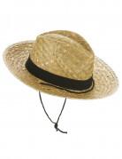Chapeau cowboy paille adulte