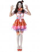 D�guisement clown � pois color� femme