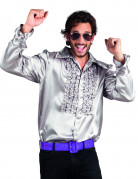 Chemise disco argentée homme